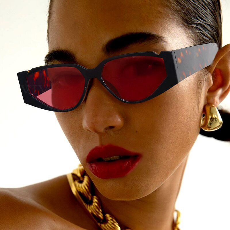 Celebrity retro acetate cat eye multicolored sunglasses