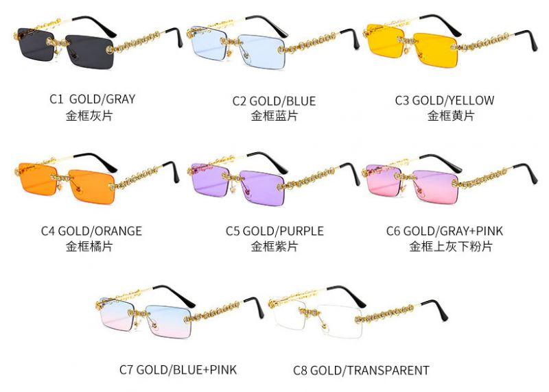 Pentagon Funky Sunglasses Two Tone Oversized Frame
