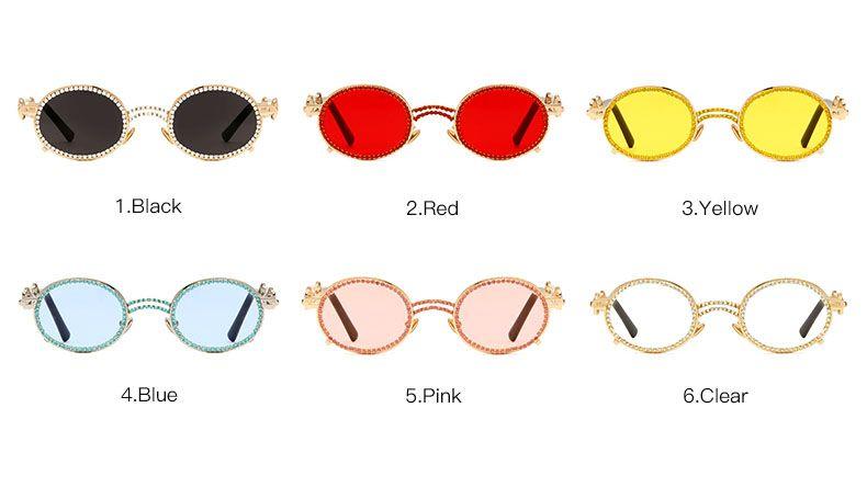Novelty rimless cute sun & moon costume sunglasses
