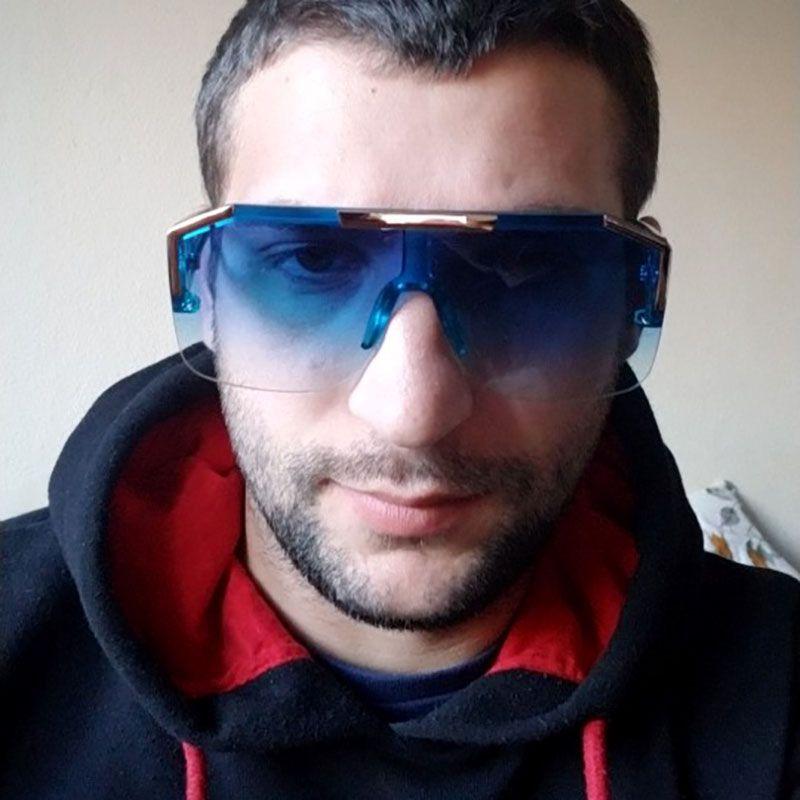 Shadow D-frame Aviator Mono Lens Sunglasses