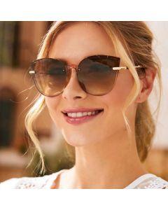 Women Vintage Oversized Frame Cat Eye Sunglasses