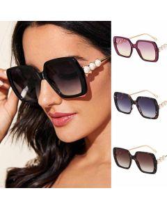 Pearls Decorative Women Square Frame Sunglasses
