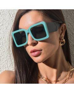 Two tones modern cute oversized square sunglasses