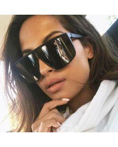 Flat Top Oversized Sunglasses Fashion Shield Goggles