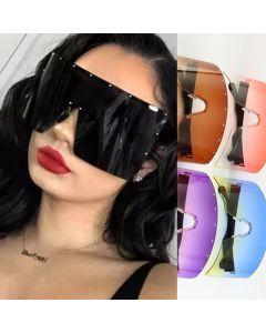 Wraparound Shield Super Oversized One Piece Sunglasses