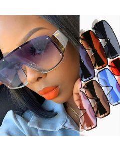 One piece lens luxury oversized futuristic sunglasses