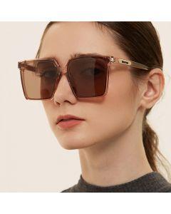 Oversized Square Women Elegant Gradient Sunglasses
