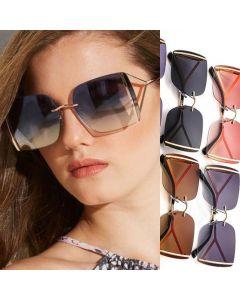 Oversize Unique Square Sunglasses Elegant Women Shades