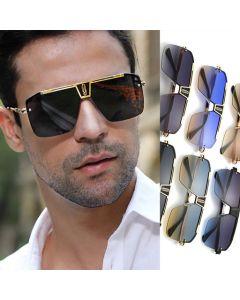 Men Retro Luxury Vintage Oversized Square Sunglasses