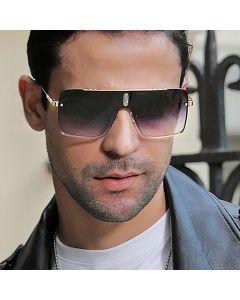 Men Large Luxury Male Driving Rectangular Sunglasses