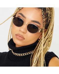 Oval Shape Vintage Steampunk Sunglasses