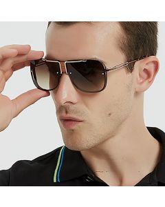 Premium Gradient Lens Metal Frame Aviator Sunglasses