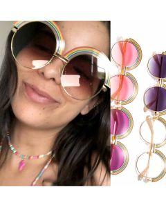 Modern Oversized Gradient Round Multicolored Shades