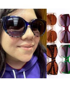 Vintage two tone frame cute cat's eye sunglasses