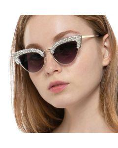 Luxury Diamond Frame Bling Cat Eye Sunglasses