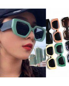 Luxury fashion shades half frame cat eye sunglasses