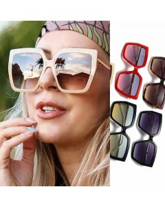 Elegant Oversized Square Women Luxury Female Sunglasses