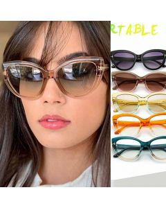 Indie trendy multicolored fashion cat eye sunglasses