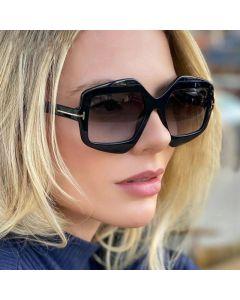 Gradient Fashion Vintage Women Oversize Sunglasses
