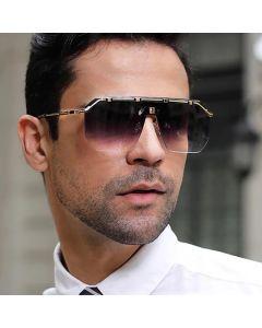 Rimless sunglasses aviator shape sense of lightness