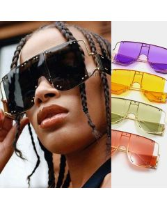 white rimmed sun glasses
