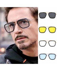 Tony Stark Iron Man Aviator Rectangular Sunglasses