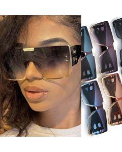 Big 'B' Letter Legs Oversized Mono Lens Sunglasses