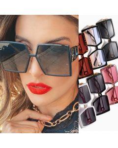 Square Sunglasses Big Frame Luxury Flat Top Shades