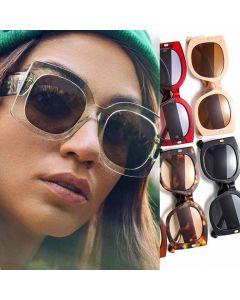 Oversized Round Lens Square Frame Cute Sunglasses