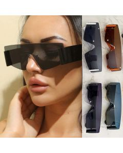 Futuristic One Piece Mono Lens Bold Legs Sunglasses