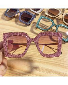 Premium GLITTERY sunglasses BLING square shades