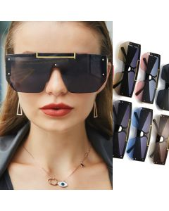 Modern geometric googles oversize shield sunglasses