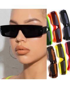 Flat top mono lens rectangular modern sunglasses