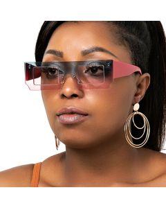Modern Flat Top Hip Hop Multicolored Sunglasses