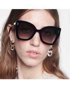 Superb stunning oversize cat eye gradient sunglasses