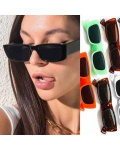Cute Colorful Rectangular Girls Vintage Sunglasses