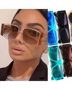 Flat top frame vintage hippie oversize sunglasses