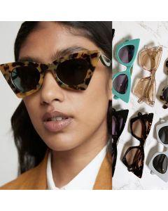 Acetate Frame Cat Eyes Shaped Cute Sunglasses