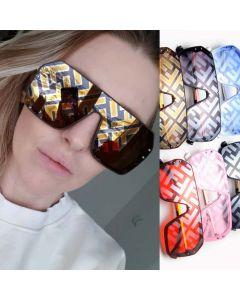 black circle frame sunglasses
