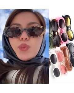 Hip Hop Style Oval Sunglasses Vintage Cute Shades