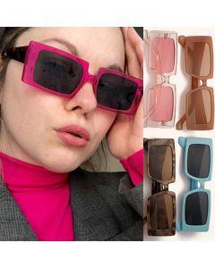 Hip hop fashion show rectangular costume sunglasses