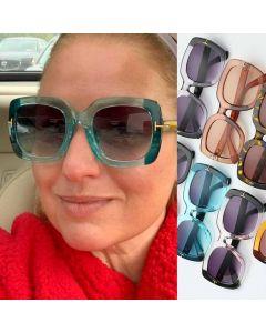 Flat Top Big Size Square Bold Statement Sunglasses