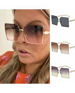 Fashion oversize gradient women square sunglasses