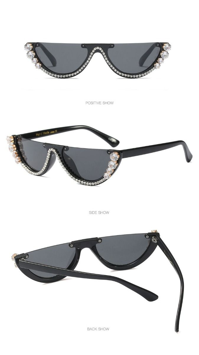 Acetate Frame Fashion Girls Sexy Cat Eye Sunglasses