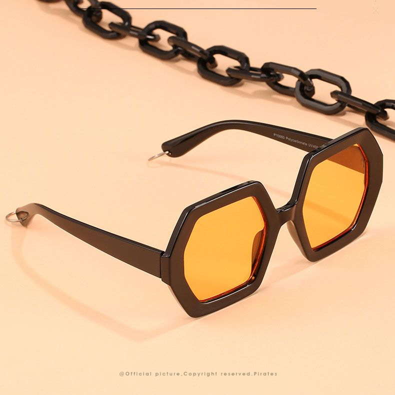 Metal Frame Double Bridges Geometric Aviator Sunglasses