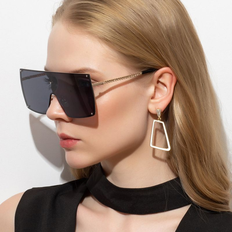 Oversized Aviator Sunglasses Acetate Flat Top Eyewear