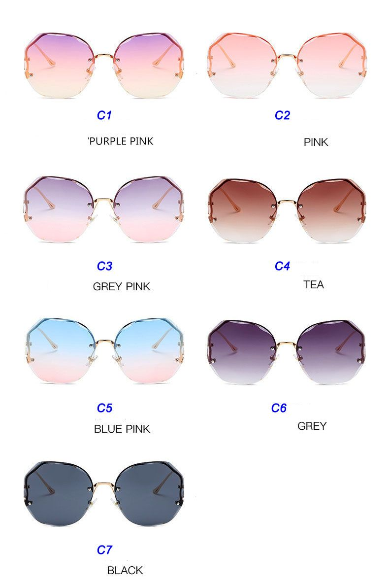 Fashion polygon gradient female butterfly sunglasses