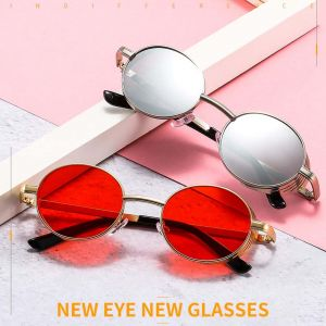 Oval alloy frame sunglasses steampunk hi tek shades