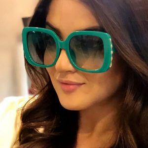 Luxury Oversized Sunglasses Women Retro Big Frame Shades