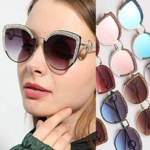 Luxury bling rhinestones cat eyes diamante sunglasses